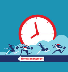 Business team and time management concept vector
