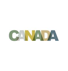 canada phrase overlap color no transparency vector image