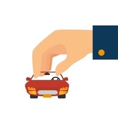 car hand vehicle vector image