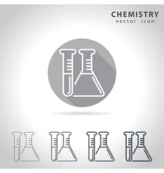 Chemistry outline icon vector image