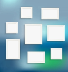 Different frames on blured background Template for vector