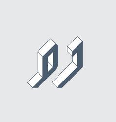 dj - international 2-letter abbreviation d and j vector image