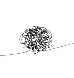 Doodle tangle mess 1 vector
