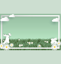 easter day greeting background vector image