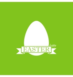 easter with egg and ribbon happy easter vector image