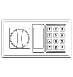 Electronic keypad vector