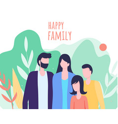 father mother daughter son family together outdoor vector image