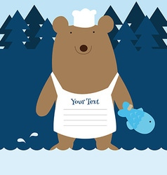 Fishing bear vector