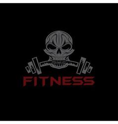Fitness skull vector