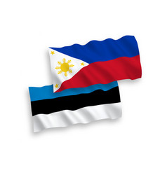 Flags philippines and estonia on a white vector