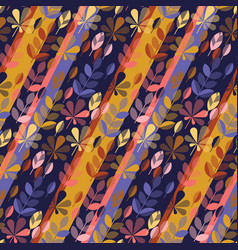 flat colorful fall leaves seamless pattern vector image