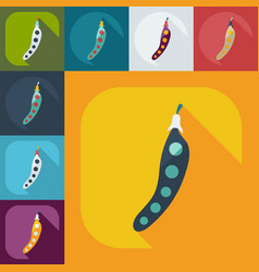 Flat modern design with shadow icons beans vector
