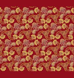 Floral seamless pattern oriental texture flower vector