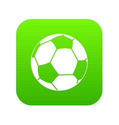 football ball icon digital green vector image