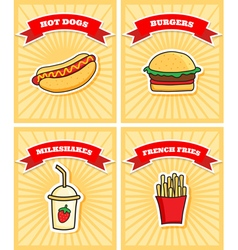 four posters vector image