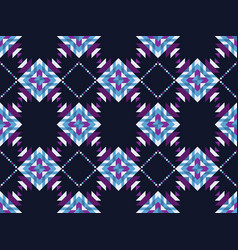 geometric mosaic seamless pattern on a black vector image