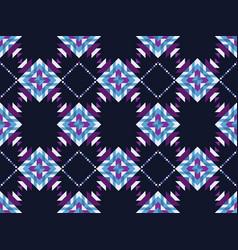 Geometric mosaic seamless pattern on a black vector