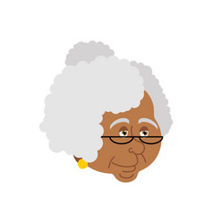 Grandmother african-american portrait old woman vector