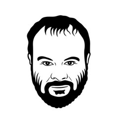 Grinning man with a beard vector