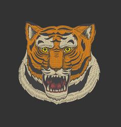 head wild animal predator asian tiger face vector image
