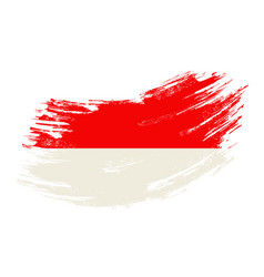 Indonesian flag grunge brush background vector