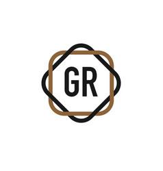 initial letter gr elegance logo design template vector image