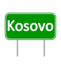 Kosovo road sign vector