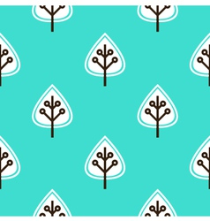Leaves seamless pattern - blue vector image