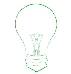 Line Art of Lightbulb vector