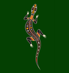 Lizard aboriginal art style vector