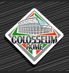 logo for roman colosseum vector image