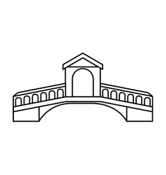 London bridge isolated icon vector