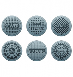 manhole covers vector image