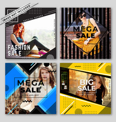 Modern sale banners collection vector