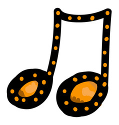 music note on white background vector image