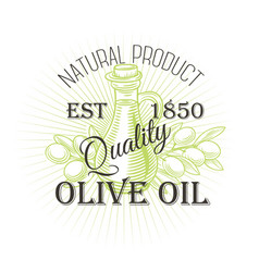 olive oil labe vector image
