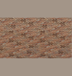 Painted a large brick wall old brick brown vector