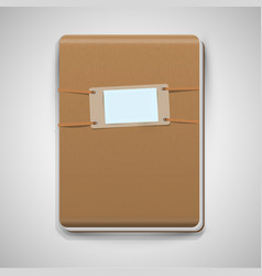 Realistic brown notebook vector