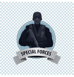 Round icon with special law enforcement unit vector