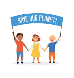 Save our planet concept vector