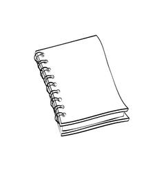 School notebook draw vector image