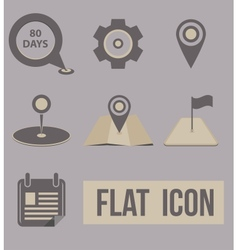 Set icons modes of transport navigation vector