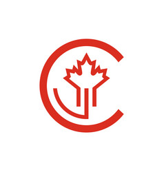 sign the letter c vector image