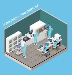 Silicon chip lab composition vector