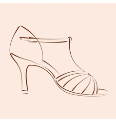 Sketched woman s shoe vector image