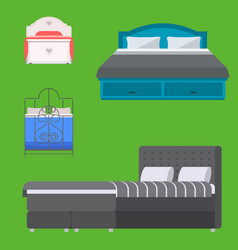 sleeping furniture design bedroom exclusive vector image