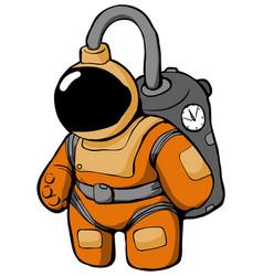 Space suit cartoon vector