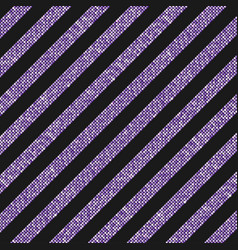 the diagonal lines banner purple sequins back vector image