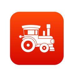 toy train icon digital red vector image