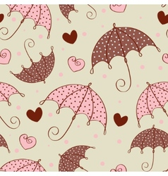 umbrella love pattern vector image